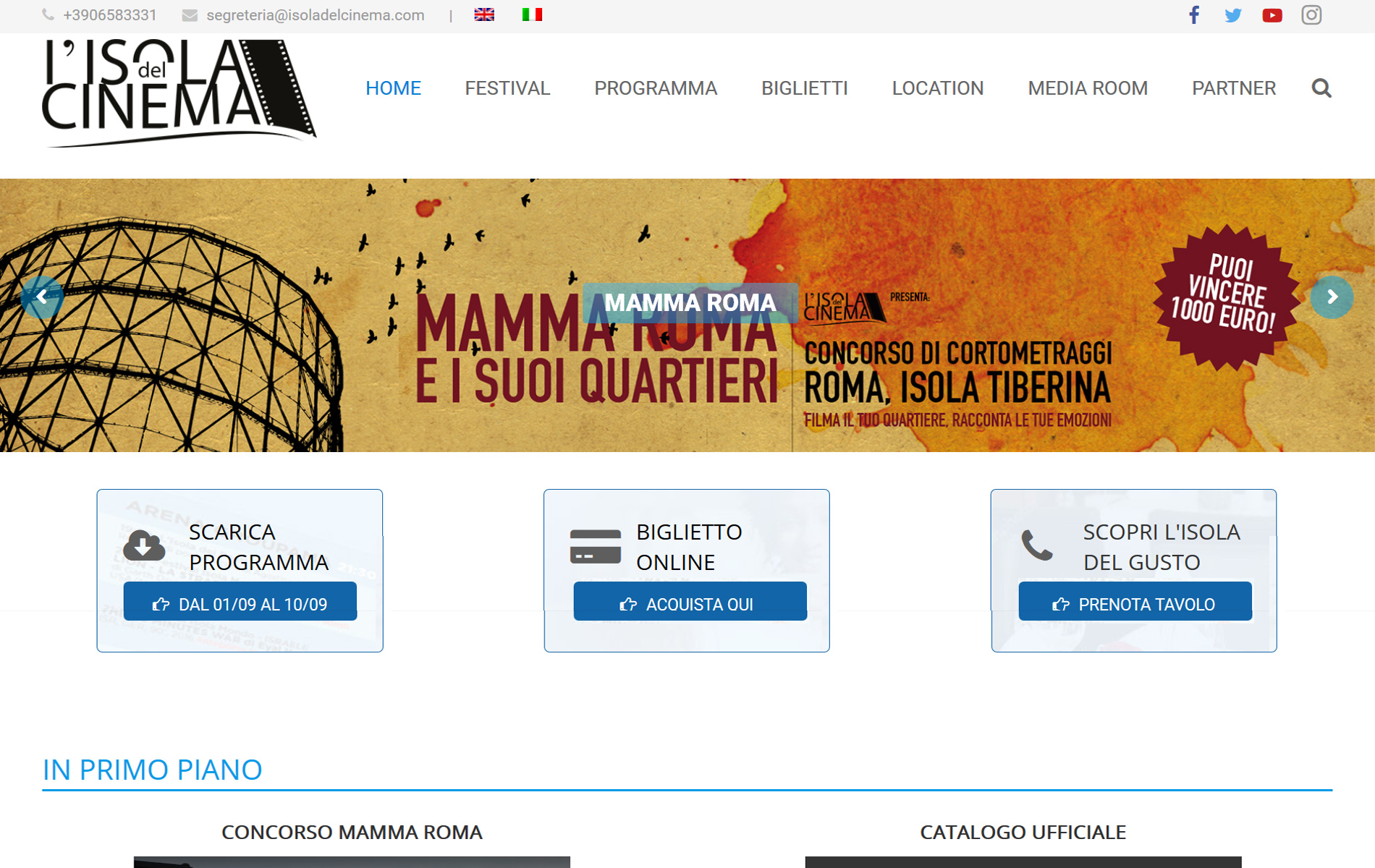 Isoladelcinema.com – il cinema all'Isola Tiberina di Roma con acquisto biglietto online