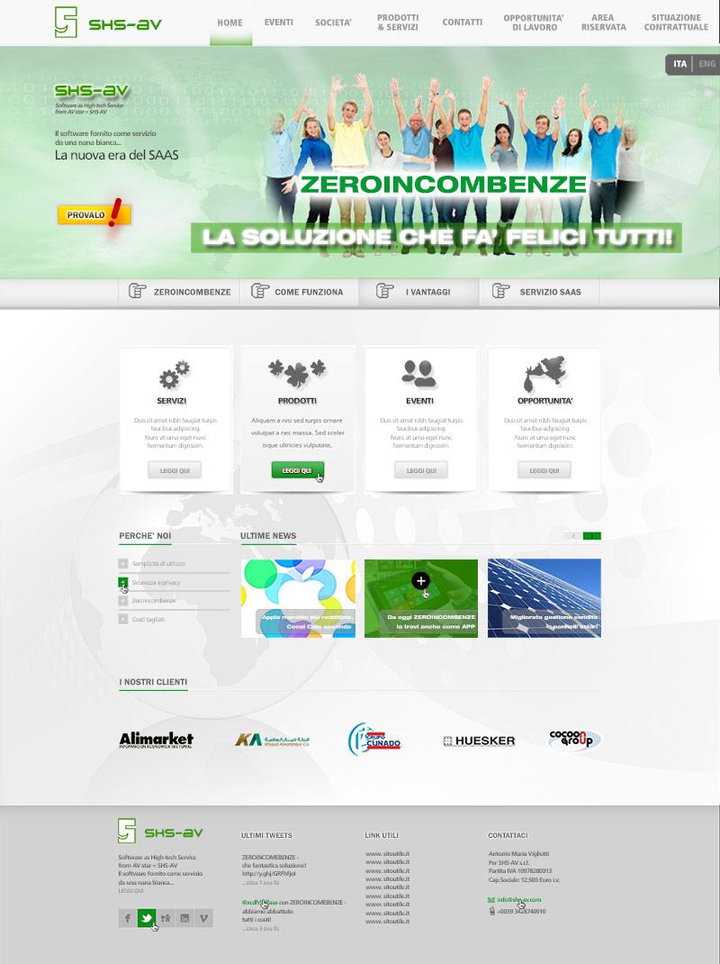 Zeroincombenze Contest – impatto grafico e tecnologia avanzata per la home page